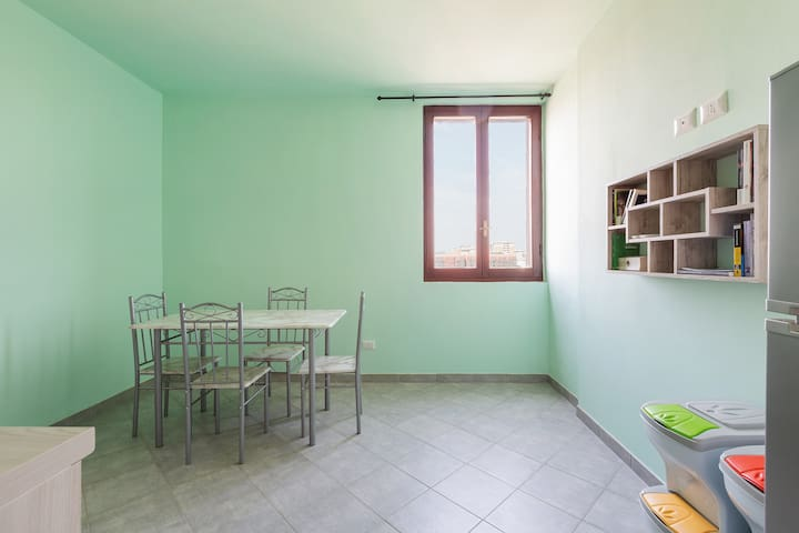 The dining room & The equipped Kitchen