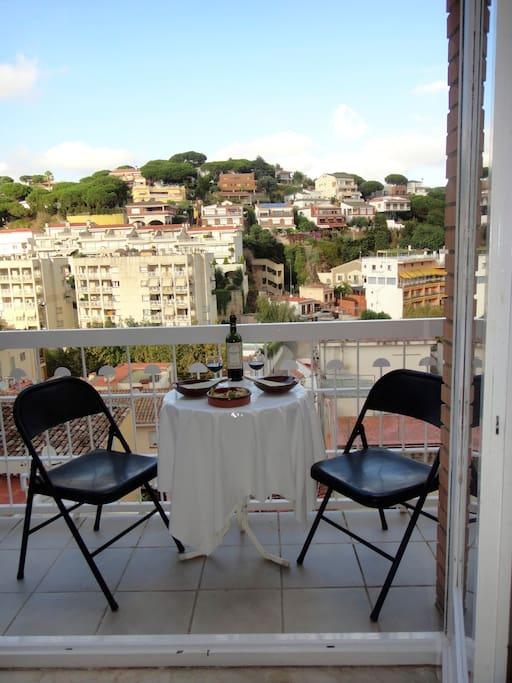 Ausblick vom Wohnzimmer Balkon