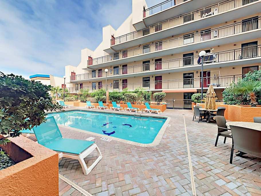 Take a dip in the 10th floor pool at Monterey Bay Suites. Your condo is professionally managed and maintained by TurnKey Vacation Rentals.