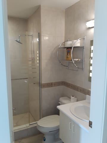 Master Bedroom, your private bathroom with walk in shower that has plenty of room ... to rinse off of course and feel fresh.