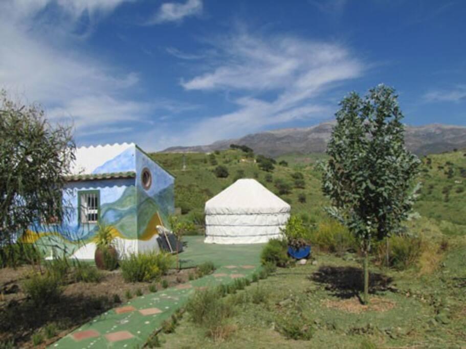 Casita and Small Yurt