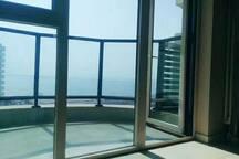 东戴河山海同湾小区1+1海景公寓双床房