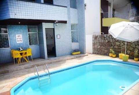Casa confortável em Olinda a uma quadra da Praia!