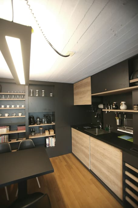 High end designed and fully equipped kitchen