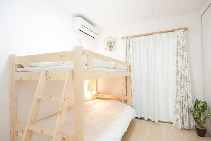 (1F,Bed room③) a bunk bed with stairs