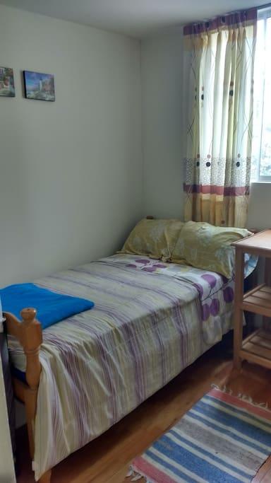 Habitación individual, con opción a cama individual adicional o colchón