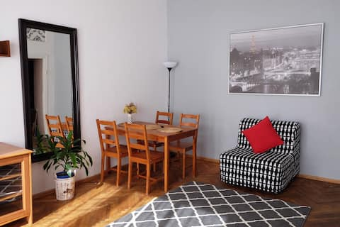 Nice apartament in popular district of Warsaw