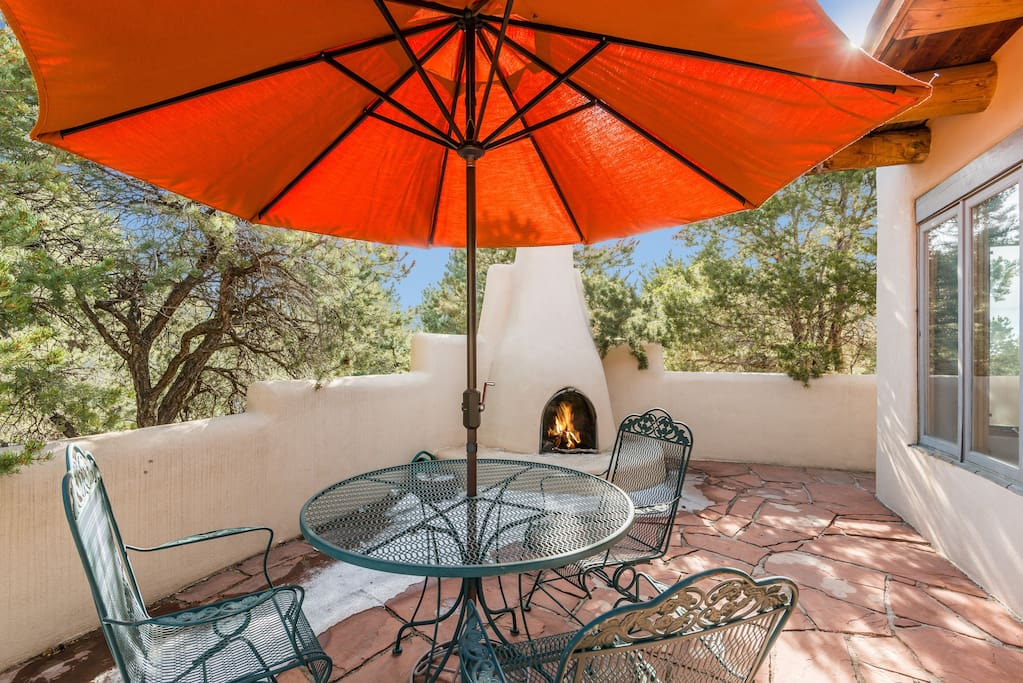 South Patio with kiva fireplace
