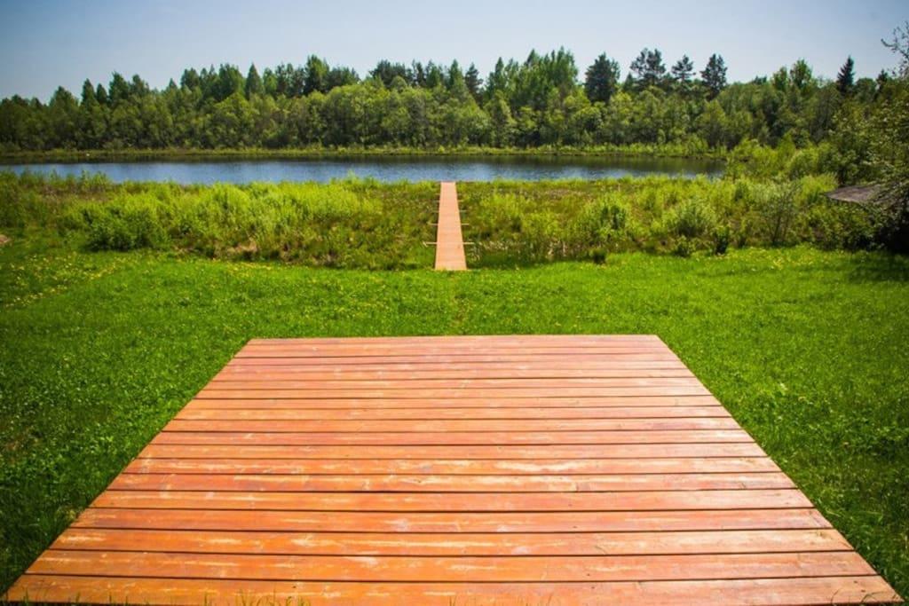 деревянный помост (40 метров)