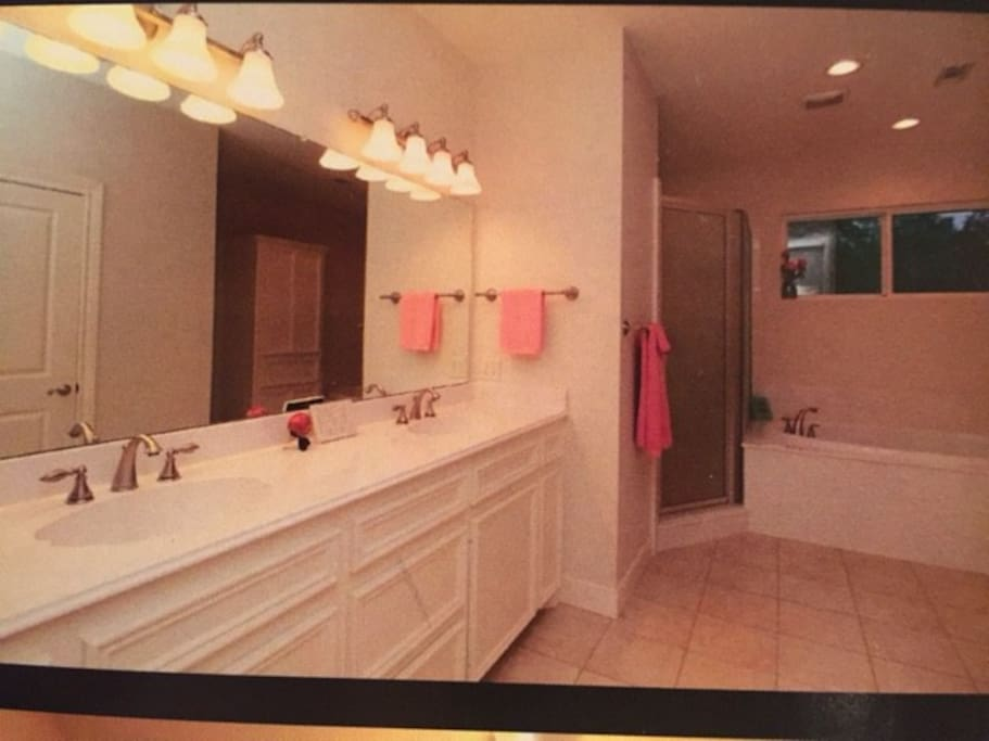 Master bathroom with double sink!