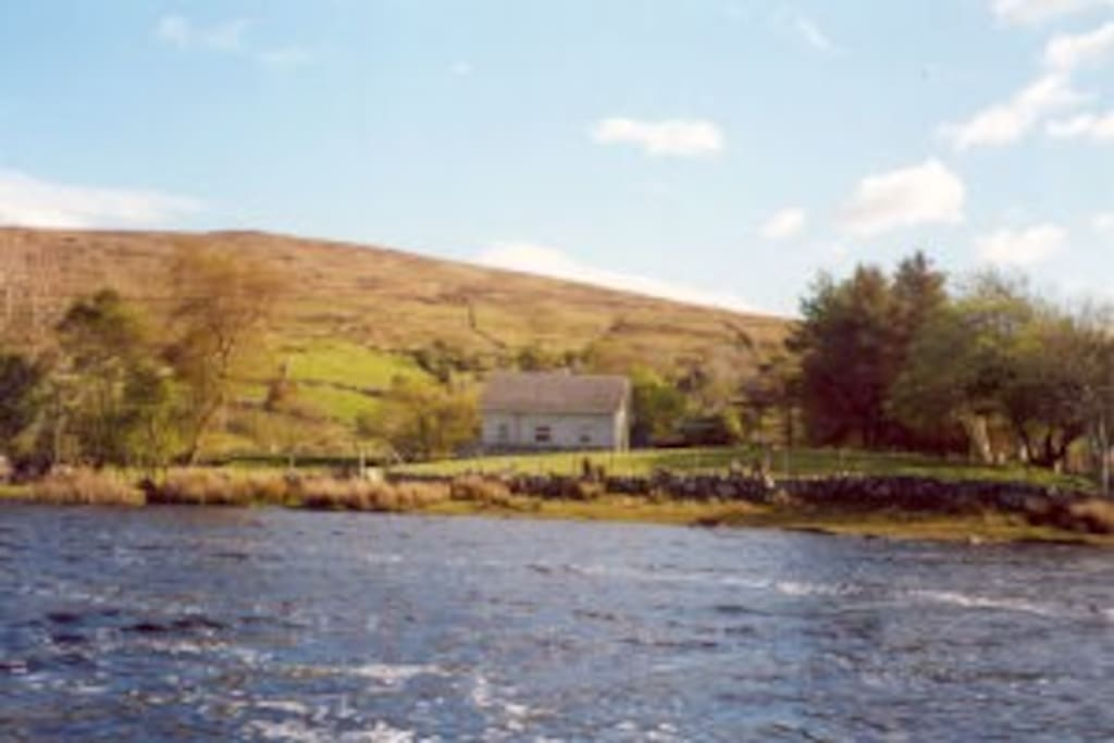 Lough Boffin at the rear of the cottage