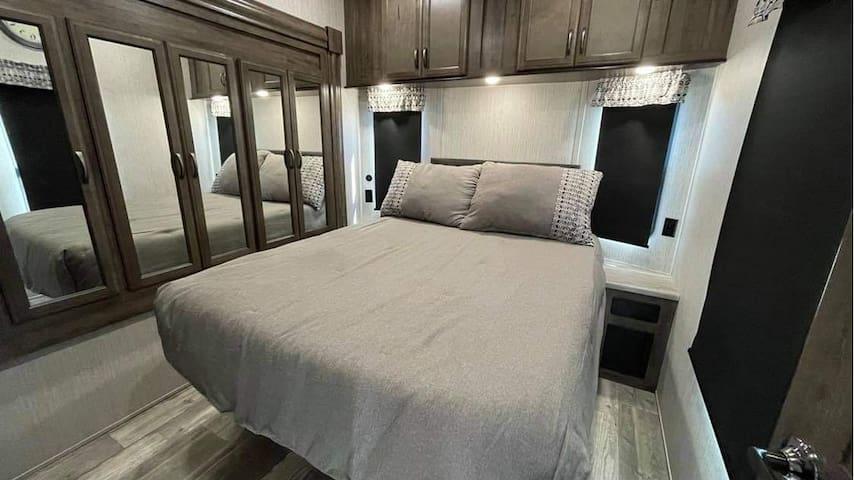Queen Memory Foam bed in the master room