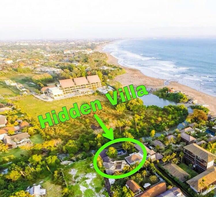 This is us - just a 1 minute walk from the beach at Jalan Nelayan, Canggu