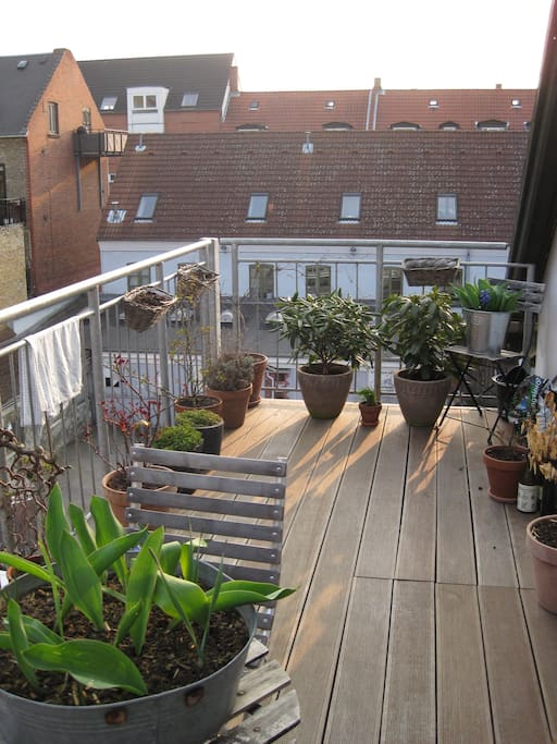 Balcony in the early spring
