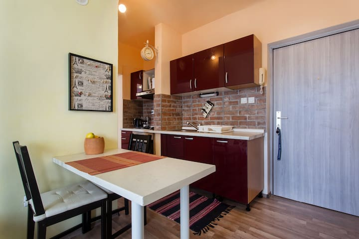Walk to central, perfect for two. Free parking. - Ljubljana - Flat