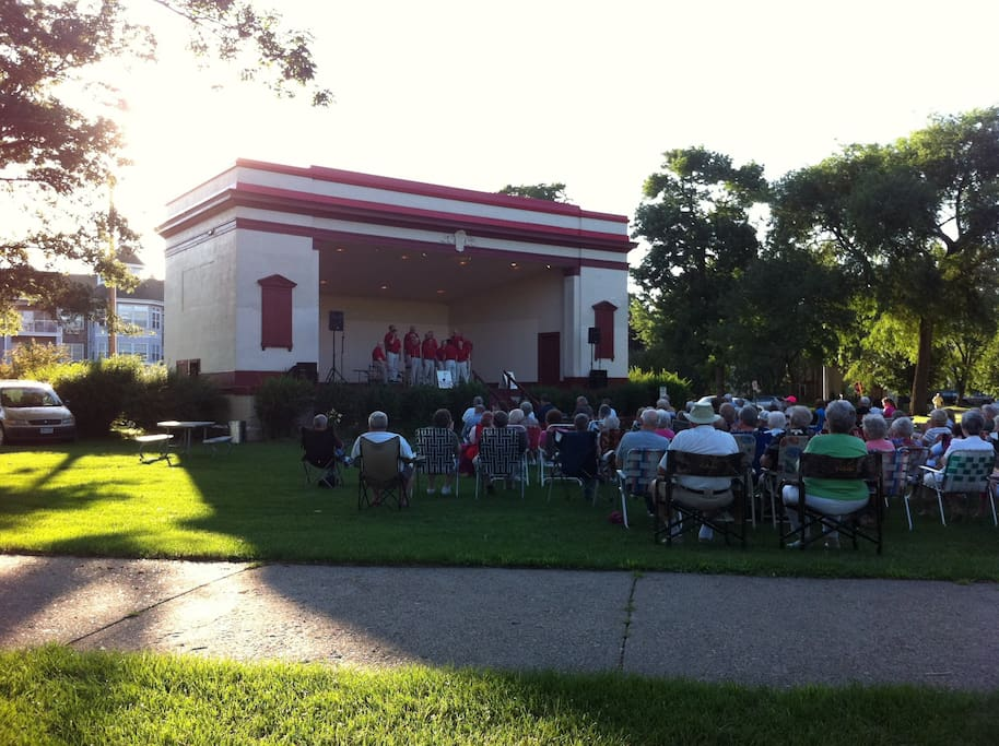 Concerts in the park, Thursday evenings.