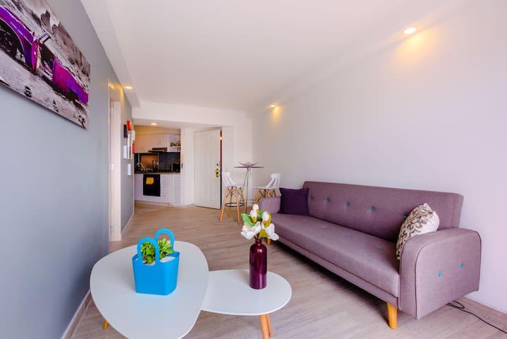 Moderno apartamento de una recámara en Corferias