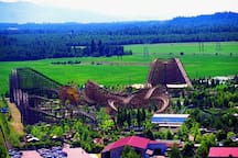 Silverwood Theme Park is a popular place to visit while you are here.