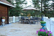 Our common area deck. It's great for breakfast or candlelit dinner.