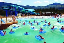 Silverwood has a huge water park called Boulder Beach. Get out that sunscreen!