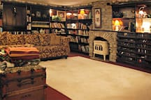 Our Library / TV Room. We have over 200 DVD's.