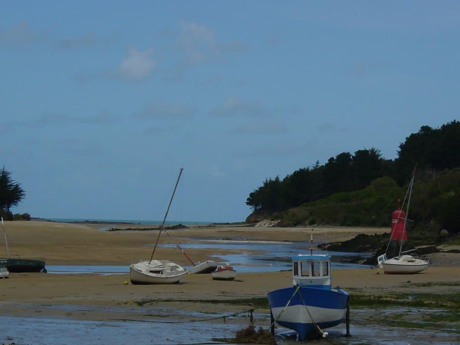 Rivière le Douron se jette dans la mer, sépare le Finistère des Côtes d'Armor