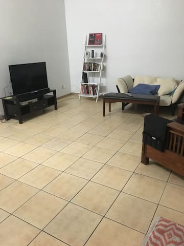 Open living room with WiFi available