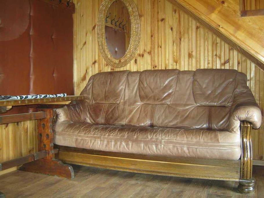 Удобная кожаная мебель