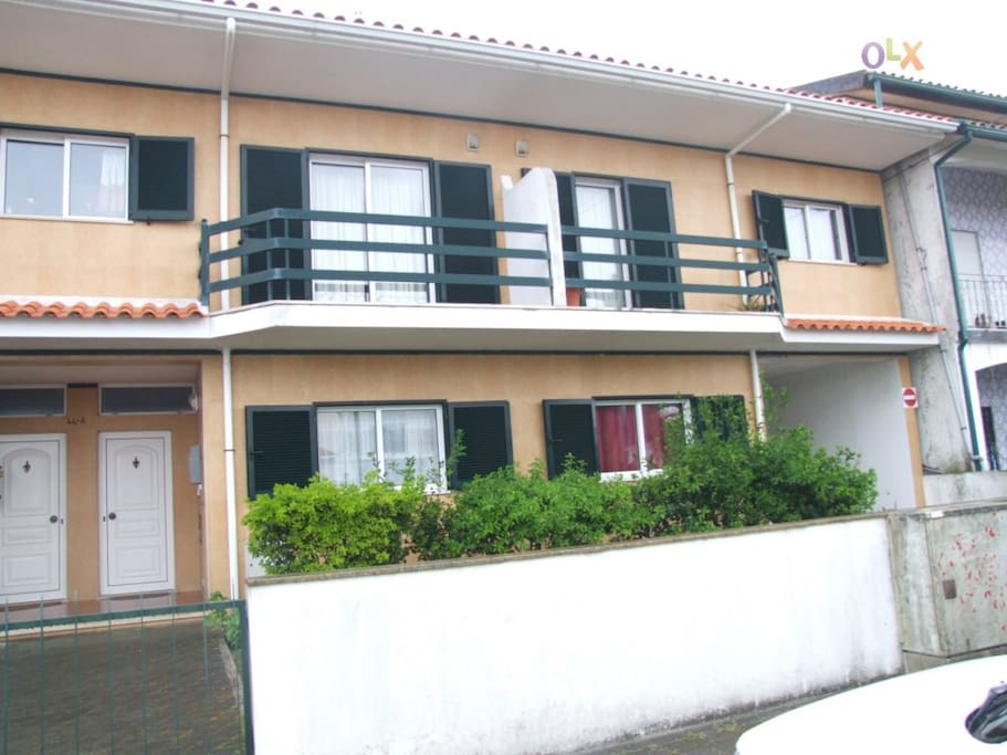 The front of the apartment (it's the 1st floor)