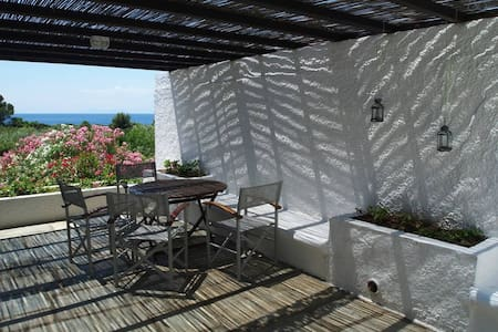 Beachfront 3-bedroom Villa, Vromolimnos Beach E - Skiathos - Villa