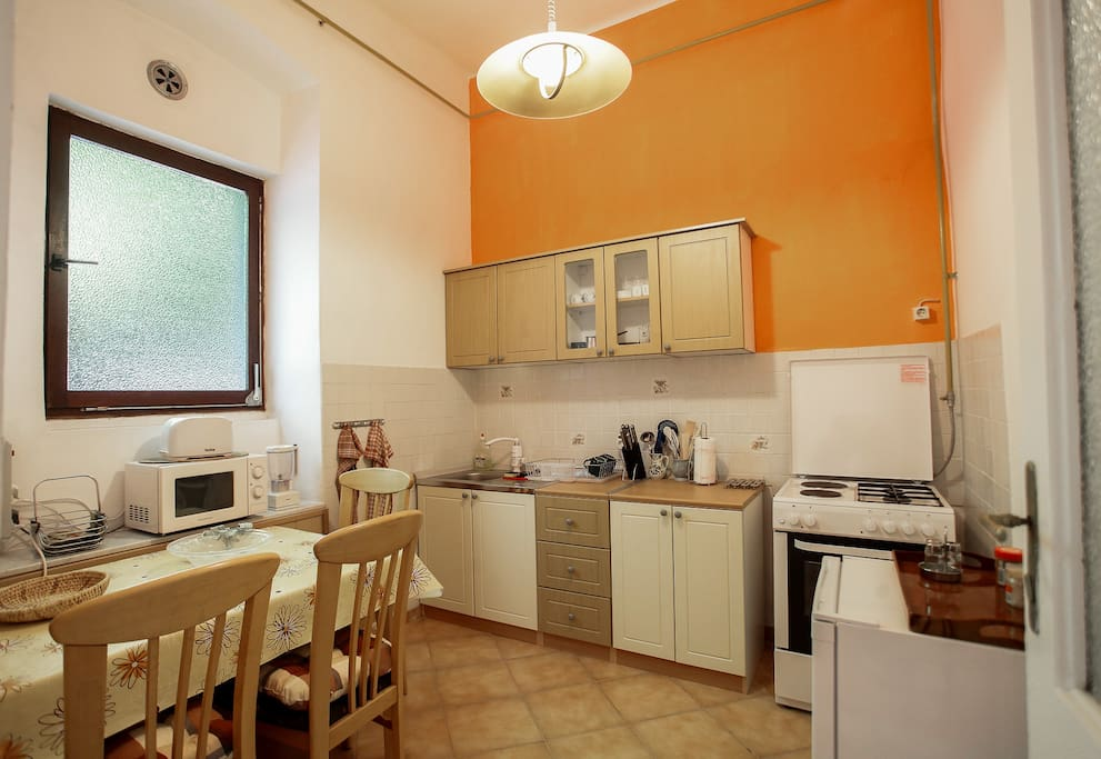 Large, fully equipped kitchen...