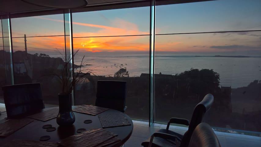 Sunset at dinner