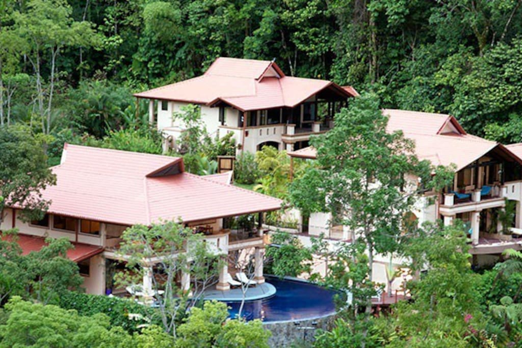 Mareas Villas; 36 acres surrounded by 400 acres of dedicated rain forest reserve. South Pacific of Costa Rica.