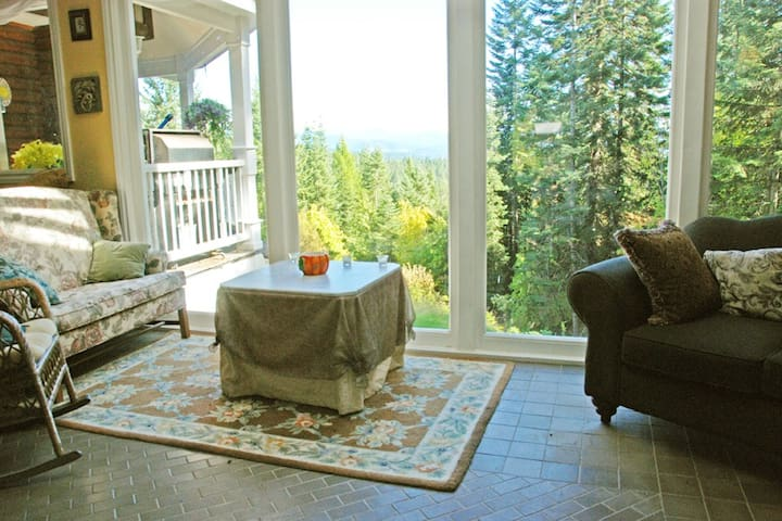 Or you can sit in the evening with a glass of wine and enjoy the view.