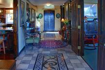 Our entry hall. There are 13 original pieces of art.