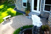 Our backyard courtyard.