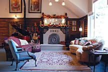 The Great Room. The big pictures on the wall are original paintings that are now book covers for author Nancy Missler.