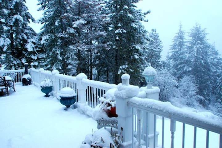 Winter on our deck.