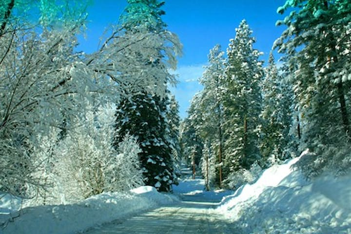 The drive to our house in winter is not bad at all. The county does a great job of clearing the roads.