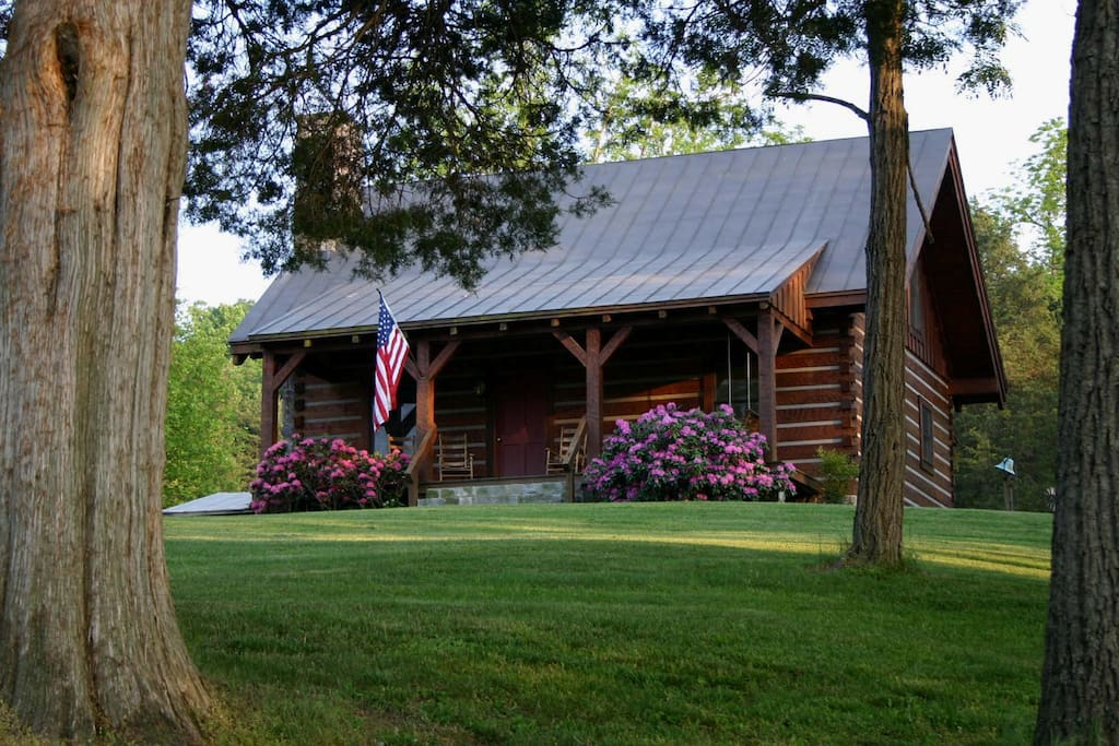 virginia log cabin houses for rent in natural bridge