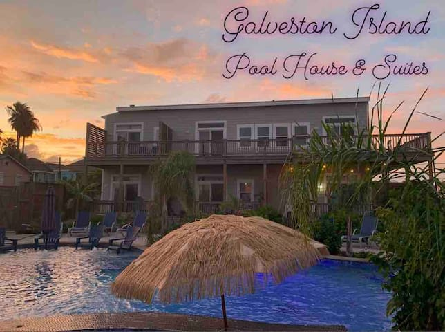 Sunset Suite at Galveston Island Pool House! 2 max