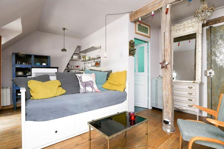 Chic & charmant studio St Ambroise/Marais balcons