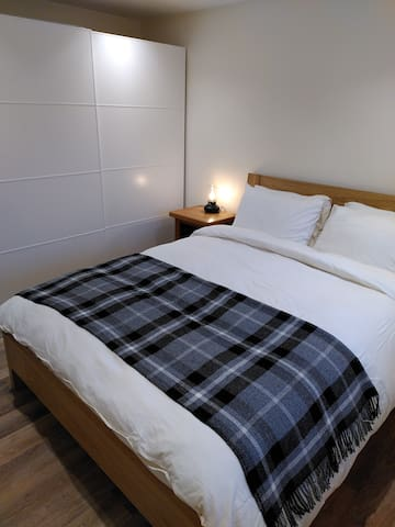Bedroom - with plenty of wardrobe & drawer space to put your things away & make yourselves at home whilst you stay.