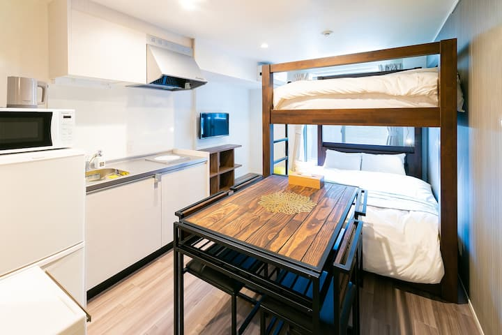 【Minn Kamata】 Standard Loft ★ 6 PAX / Non-smoking / 5 min walk from JR Kamata Station / Kitchen / Free-WiFi