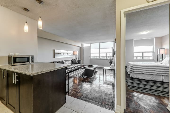 Penthouse Level - 1 Bedroom Suite in Mid-Town!