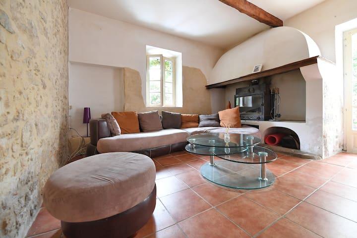 Chambre avec vue sur le Pic St Loup - Saint-Mathieu-de-Tréviers - Casa
