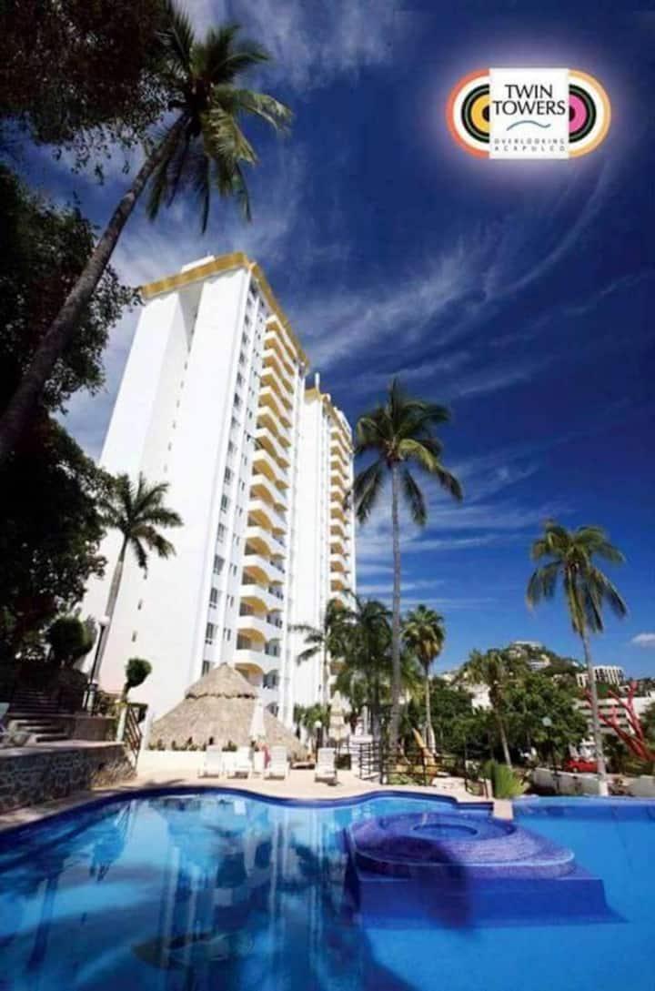 Bonito departamento con vista al mar en Acapulco