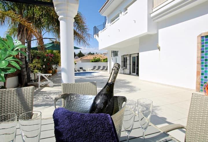 Villa La Cala de Mijas with hot tub & heated pool