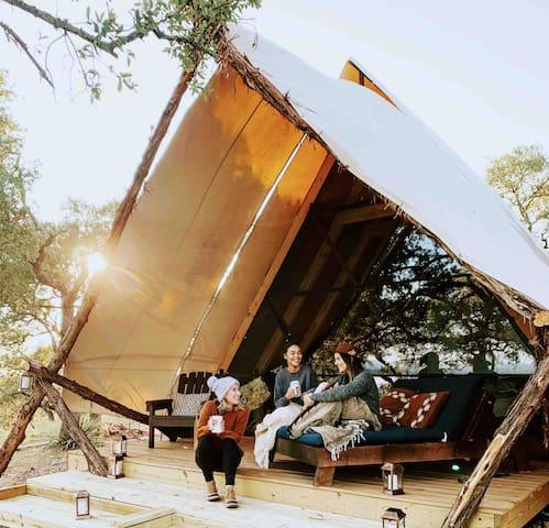 Glamping - Grand Aztec Tent at Talula Mesa