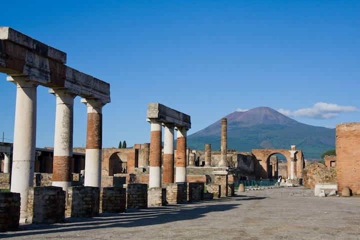 Pompeian Forum and mount Vesuvius